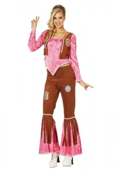 Kostüm Hippie FlowerPower pink