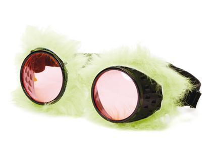 Brille Plüsch grün