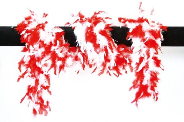 Federboa rot-weiß 180 cm