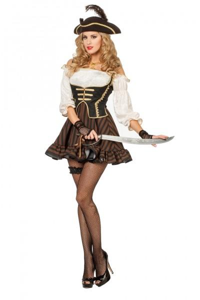 Kostüm Piratin braun