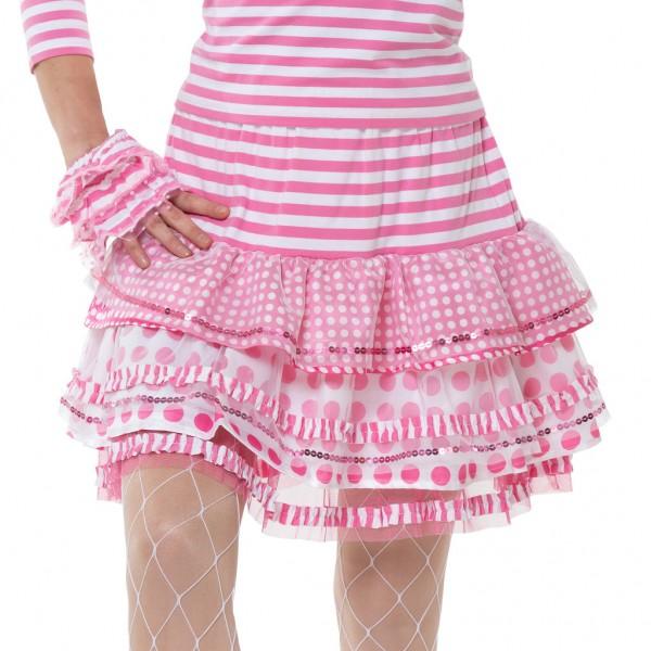 Ringel Rock Tupfen und Streifen rosa-weiß