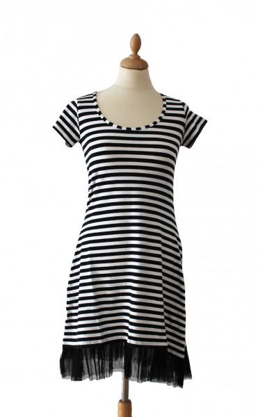 Ringelkleid Petticoat schwarz/weiß