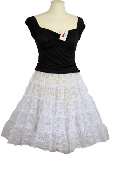 Spitze petticoat weiß