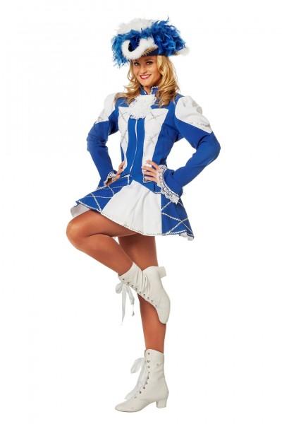 Kostüm Funkemariechen Damen blau-weiß
