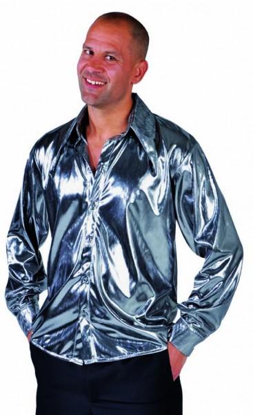 Partyhemd silber glanz
