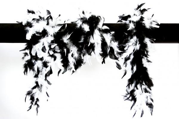 Federboa schwarz-weiß 180 cm