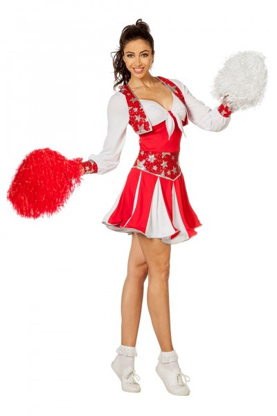 Kostüm Cheerleader Deluxe rot