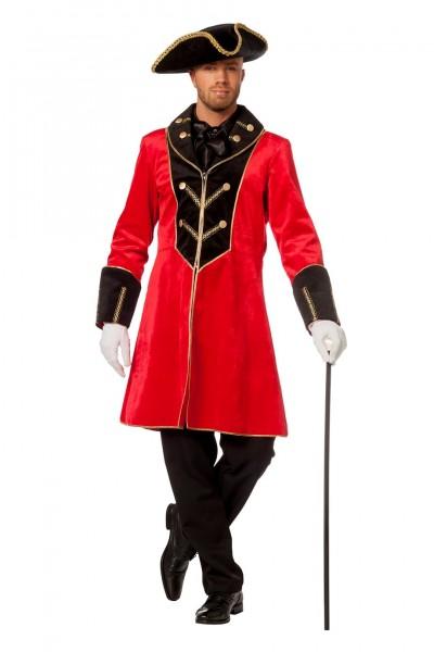 Kostüm Jacke Herren rot/schwarz