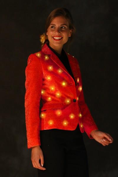 LED Damenblazer rot