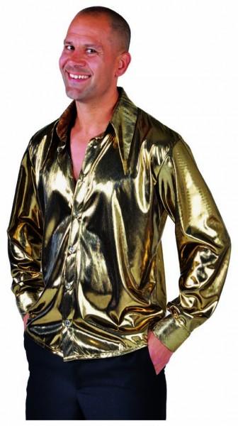 Partyhemd gold glanz
