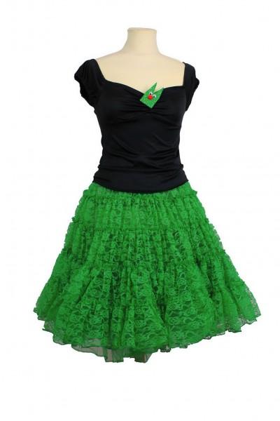 Spitze petticoat grün