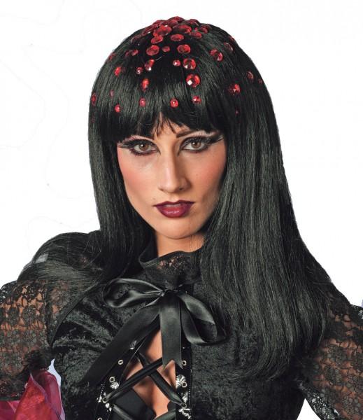 Perücke Disco-Queen schwarz