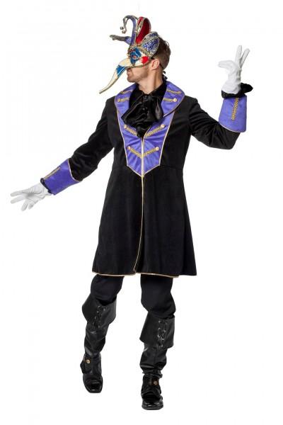 Kostüm Jacke Herren schwarz/lila