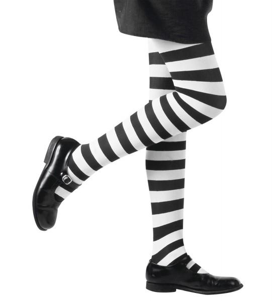 Kinderstrumpfhose schwarz/weiß